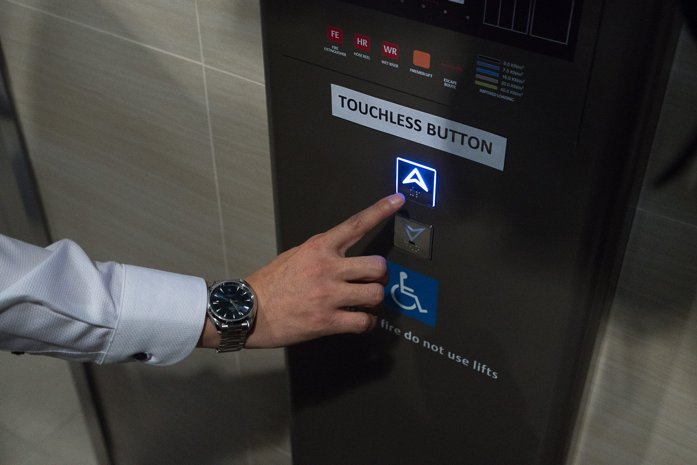 touchless lift button